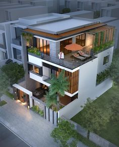 48 inspiration modern house design plant ideas and pictures 29 ⋆ grandes. Modern Exterior House Designs, Modern House Facades, Dream House Exterior, Modern Bungalow Exterior, Modern Villa Design, 3 Storey House Design, Bungalow House Design, House Front Design, Luxury Home Accessories