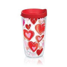 Red and White Valentine Hearts 16-oz Tervis® Tumbler