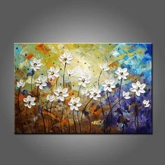 15% off and free shipping to worldwide. Heavy texture canvas paintings for sale, modern artwork on canvas, 100% hand painted art painting, contemporary artwork on canvas, buy art paintings online, heavy texture abstract paintings, impasto canvas painting. Canvas Paintings For Sale, Texture Painting On Canvas, Acrylic Painting Flowers, Hand Painting Art, Abstract Flowers, Canvas Art, Flower Paintings, Art Paintings, Paintings Online