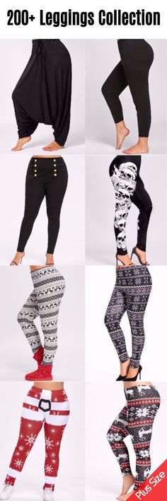 #200+ #PlusSize #Leggings 200+ Leggings For Your Free Choices | Start From $6 | Up To 61% OFF | Sammydress.com