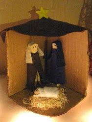 Religious Christmas Crafts | Clothespin Nativity | AllFreeChristmasCrafts.com