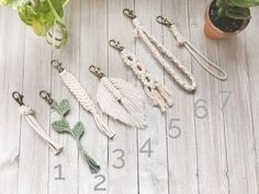 Your place to buy and sell all things handmade Macrame Wall Hanging Diy, Hanging Plant Wall, Macrame Art, Macrame Projects, Lanyard Necklace, Tassel Keychain, Keychain Wristlet, Bead Crafts, Diy And Crafts