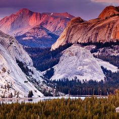 Tenaya Lake - Best Yosemite Views - Sunset