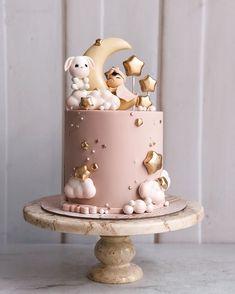 Baby Shower Cake - First bday - Kuchen Tortas Baby Shower Niña, Gateau Baby Shower, Baby Shower Cupcakes, Baby Shower Parties, Baby Cupcake, Cupcake Cakes, Baby Shower Pasta, Rose Cupcake, Baby Girl Cakes