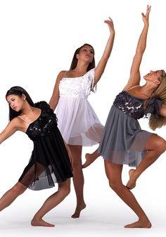 These were my lyrical costumes for the 2013 starz dance season Modern Dance Costume, Cute Dance Costumes, Contemporary Dance Costumes, Dance Costumes Lyrical, Lyrical Dance, Dance Recital, Ballet Costumes, Trio Costumes, Latin Dance
