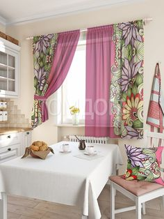Комплект штор «Балес» фиолетового цвета | Готовые комплекты штор: купить комплект штор в интернет-магазине | ТОМДОМ