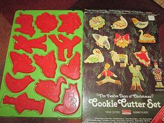 Vintage Chilton Red Cookie Cutters Full Boxed by suburbantreasure, $20.00