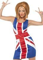 Ginger Spice Girl Union Jack Costume