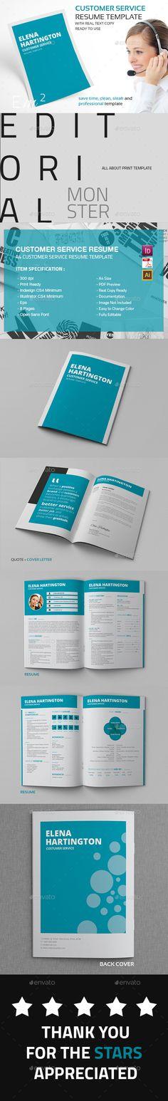 Customer Service Resume CV Template