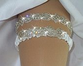 Oooh YESSS! Instead of a traditional garter... glitter and sparkle is always better!!!