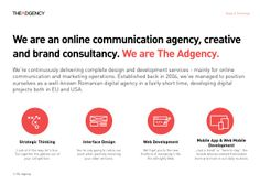 The Adgency - a brief presentation of services, clients and projects (by Richard Nita via slideshare)