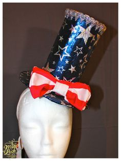 Patriotic American flag 4 July costume hat festival by marialuck