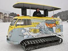 DJ snowmobile VW  The Type 1 (aka Beetle) may be the most recognizable early Volkswagen product, but the Type 2 (aka Microbus) is a close second. Introduced in 1950, VW's first van (known...