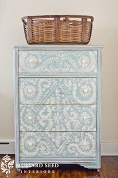 Love this reprinted dresser