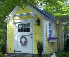 Walpole Outdoors, Shed Doors, She Sheds, Small Buildings, Photo Look, Outdoor Projects, Outdoor Spaces, Gazebo, House Plans