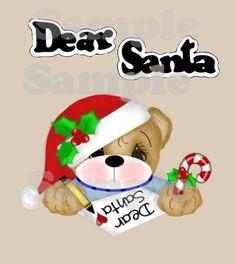 Dear Santa SVG cutting file download dxf eps wpc pdf by pixygirl2,