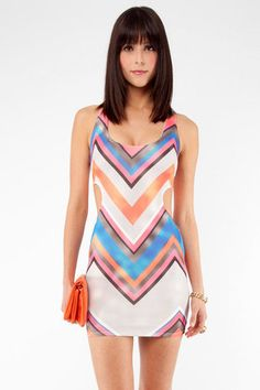 Get Down Cut Out Dress in Multi $54 at www.tobi.com - It says lining not included, though...what does that mean?!