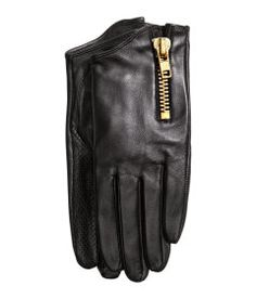 Faux leather gloves with zipper detail from H&M