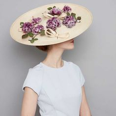 Large sisal disc with silk hand-made flowers and straw bows Silk Roses, Silk Flowers, Rachel Trevor Morgan, Fascinator Hats, Pillbox Hat, Fascinators, Run For The Roses, Wire Headband, Races Fashion