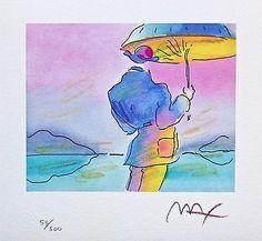 Umbrella Man, Ltd Ed Lithograph, Peter Max - SIGNED with COA – Art Commerce