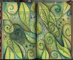 See page after page of phizzychick's art journal here.