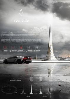YAC Announces Winning Projects for Two Road Monuments Celebrating Lamborghini's Legend,TEAM Project Initiative. Image Courtesy of YAC Concept Board Architecture, Architecture Presentation Board, Architecture Portfolio, Futuristic Architecture, Presentation Layout, Architecture Details, Presentation Boards, Architecture Diagrams, Architectural Presentation