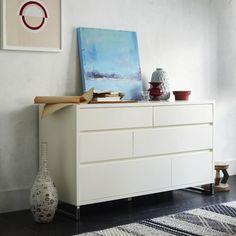 Hudson 6-Drawer Dresser - White