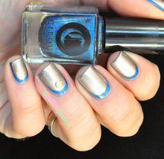 Cirque Bejeweled Picture polish metallic mush //  En bleu et or - blue and gold ruffian - #nail #nails #nailart - http://lapaillettefrondeuse.blogspot.be/2014/04/cirque-bejeweled-en-bleu-et-or.html