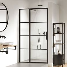 For the past year the bathroom design ideas were dominated by All-white bathroom, black and white retro tiles and seamless shower room All White Bathroom, Modern Bathroom, Small Bathroom, Master Bathroom, Bathroom Ideas, Shower Panels, Shower Doors, Dream Shower, Beautiful Bathrooms