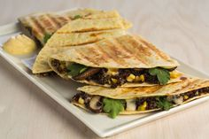 Quinoa Risotto & Sweet Corn Quesadillas