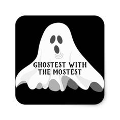 Halloween Ghostest With the Mostest Ghost Sticker - Halloween happyhalloween festival party holiday
