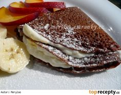 Czech Recipes, Ethnic Recipes, Pancakes, Vitamins, Food And Drink, Healthy Recipes, Healthy Food, Sweets, Lunch