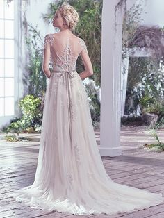 Kylie Wedding Dress by Maggie Sottero|Back I LOVE ME SOME BACK BUTTONS!!! Seriously this is beautiful.