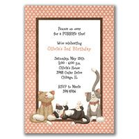 Need to add a pup to it Invitation Design, Invitations, Third Birthday, Card Sizes, Note Cards, Birthdays, Kitty Theme, Handmade Gifts, Prints