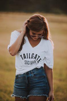 V Neck Tailgate Socialite Shirt Heather Black, V Neck Tee, Her Style, American Apparel, Vintage Black, Black And Grey, Bella Canvas, Tees, Games