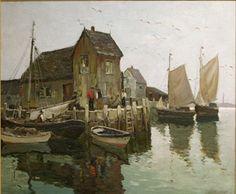 """Motif #1 - Rockport,"" Anthony Thieme, Oil on Canvas, 30 x 36"", Rockport Art Association."