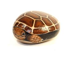 Painted Rocks  Hand Painted Turtle Rock  by PetRocksbyTheresa