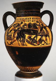 Attributed to the Princeton Painter | Terracotta amphora (jar) | Greek, Attic | Archaic | The Met