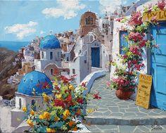 Greek Garden painting - Google Search