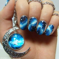 Image via Galaxy nails Image via Galaxy Nail Art Designs 2015 Image via Galaxy Nail Art Ideas Image via Galaxy space nails Image via Galaxy nails for Star Wars Cel Fabulous Nails, Gorgeous Nails, Pretty Nails, Amazing Nails, Galaxy Nail Art, Cute Nail Designs, Pedicure Designs, Creative Nail Designs, Creative Ideas