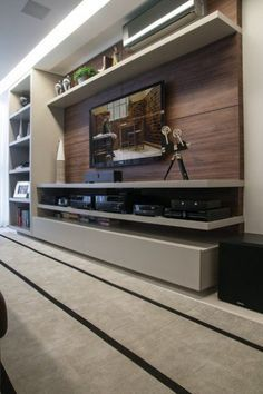 Floating Shelf Over Tv Wall Ideas floating shelves with pictures basements.Floating Shelves Arrangement Home Decor. Home Tv, Tv Unit Furniture, Home, Living Room Tv, House Design, New Homes, Tv Room, Interior Design, Home Deco