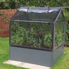 GrowCamp 4'x4' Mini Greenhouse Vegetable Growing System - Brookstone