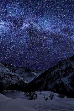 Stars on a cold winter night.