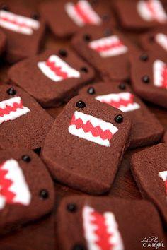 ¿Sabían que vamos a hacer galletas de Domo Kun? :) @MichasCookieFactory