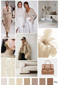 The trend forecasting of tomorrow Beige Outfit, Instagram Theme Ideas Color Schemes, Color Inspiration, Moodboard Inspiration, Brown Aesthetic, Colour Pallete, Color Beige, Fashion Illustration Sketches, Illustrations