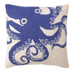 Peking Handicraft  Blue Octopus Hook Pillow
