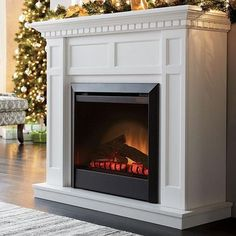 'Caprice' With Mantel Electric Fireplace - Sears Faux Fireplace Mantels, Fireplace Ideas, White Electric Fireplace, Condo Living, Living Room Inspiration, Better Homes, Online Furniture, Decoration, Home Projects