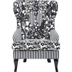-15% en ce moment sur ce superbe #fauteuil à oreilles Villa noir et blanc #Kare Design à l'occasion des #soldes d'hiver !  Un fauteuil à oreilles à la fois #élégant et #original grâce à ses différents motifs qui restent dans un coloris #noir&blanc, très #contemporain.