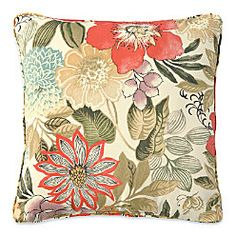 "Add comfort and style to your patio or deck furniture with 15"" Throw Pillows."
