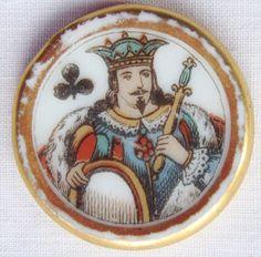 Antique Enamelled Porcelain Gaming Counter Jeton Cartes Porcelaine Ancien Whist | eBay